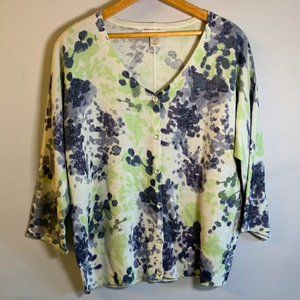 Christopher & Banks Floral watercolor sweater M